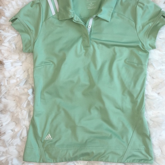 huge discount ce89b 77e72 Adidas Women's Mint Green ClimaCool Golf Polo XS